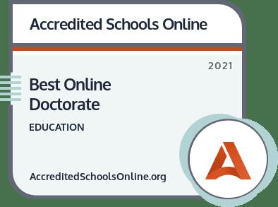 Best Online Doctorate Badge