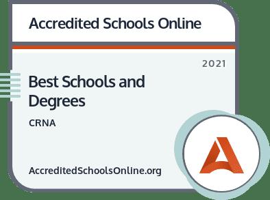 Best CRNA Schools and Degrees badge
