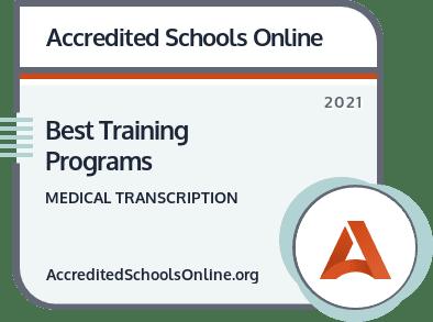 Best Medical Transcription Training Programs badge