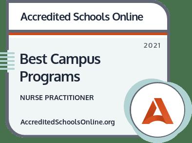 Best Campus Nurse Practitioner Programs badge