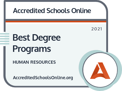 Best Human Resources Degree Programs badge