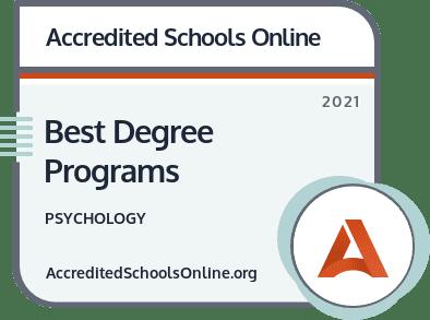 Best Psychology Degree Programs badge
