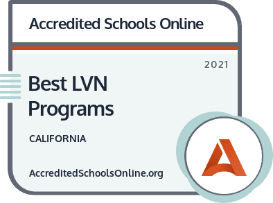 Best LVN Programs in California badge