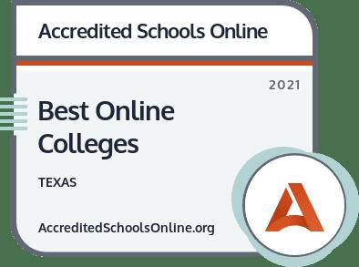 Best Online Colleges in Texas badge
