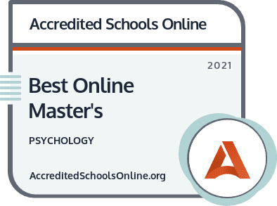 Best Online Master's in Psychology badge
