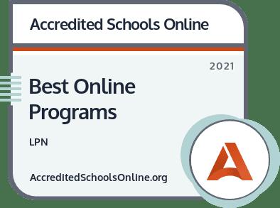 Best Online LPN Programs badge