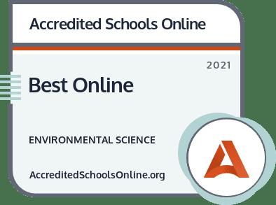 Best Online Environmental Science Degrees badge