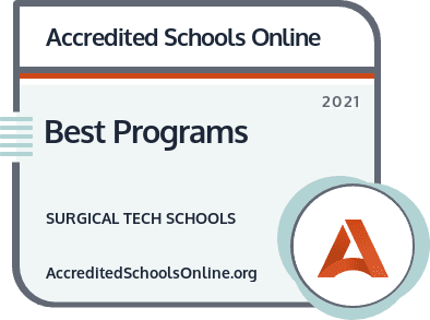 Best Surgical Tech Schools and Programs badge