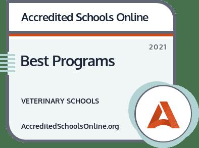 Best Veterinary Schools and Programs badge