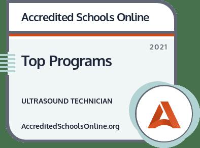 Top Ultrasound Technician Programs badge
