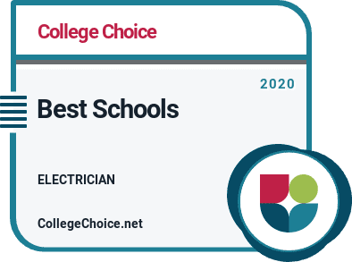 college choice's 2020 best schools for electrician badge