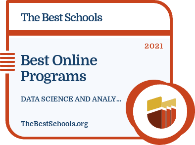 Best Online Bachelor's in Data Science and Analytics badge
