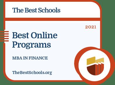 Best Online MBA in Finance badge