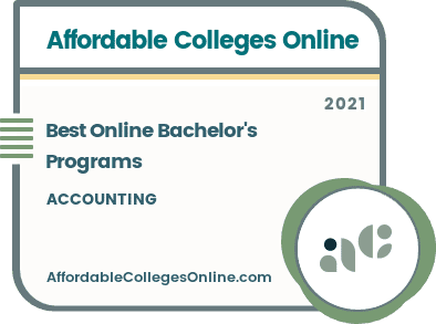 Online Bachelor's Degree Programs in Accounting badge
