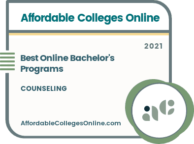 Best Online Bachelor's in Counseling Programs Badge