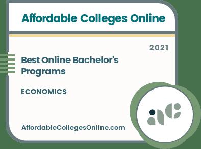 Best Online Bachelor's in Economics Programs badge
