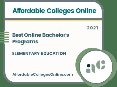 Best Online Bachelor's in Elementary Education Programs badge