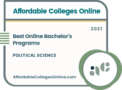 Best Online Bachelor's in Political Science Programs Badge