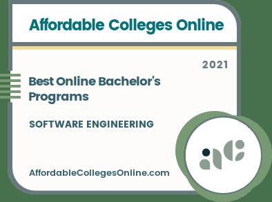 Best Online Bachelor's in Software Engineering Programs badge