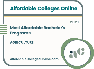 Affordable Bachelor's in Agriculture Programs badge