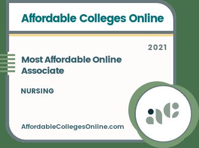 Most Affordable Online Associate in Nursing badge