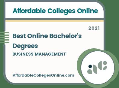 Online Bachelor's in Business Management Degrees Badge