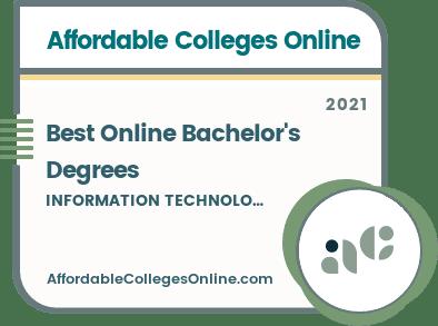 Best Online Bachelor's in Information Technology Degrees badge