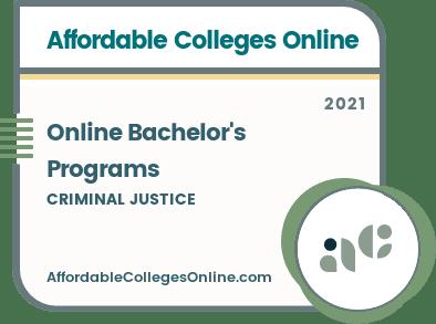 Online Criminal Justice Programs badge