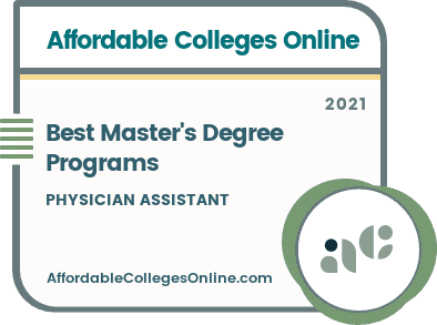 Best Physician Assistant Master's Degree Programs badge