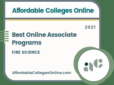 Best Online Associate in Fire Science Programs badge