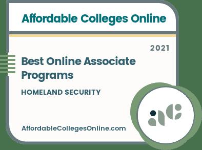 Best Online Associate in Homeland Security Programs badge