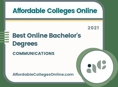 Best Online Bachelor's in Communications Degrees badge