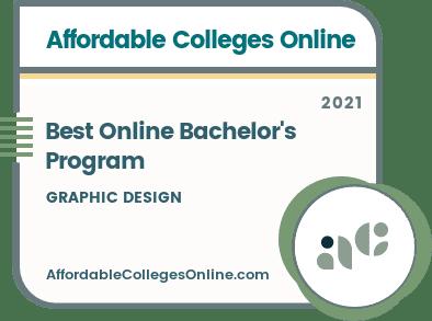 Best Online Bachelor's in Graphic Design Programs Badge