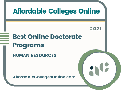 Best Online Doctorate in Human Resources Programs badge