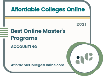 Online Master's in Accounting Programs Badge