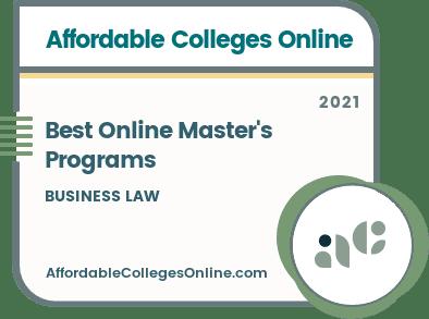 Best Online Master's in Business Law Programs badge
