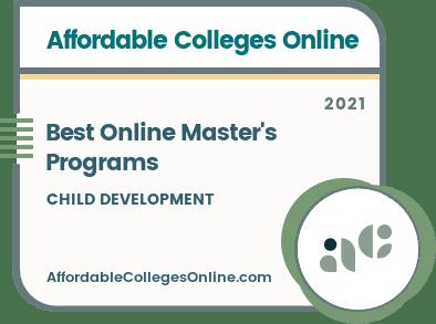 Best Online Master's in Child Development Programs badge