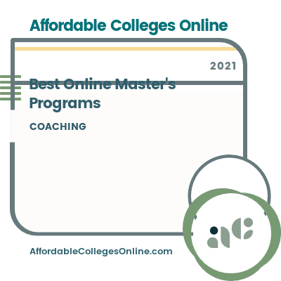 Best Online Master's in Coaching Programs badge