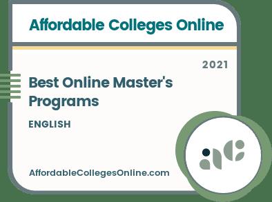 Best Online Master's in English Programs Badge