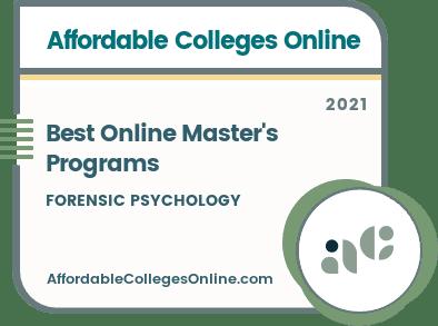 Best Online Master's in Forensic Psychology Programs Badge