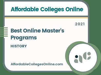 Online Master's in History Programs Badge