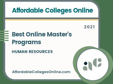 Best Online Master's in Human Resources Programs Badge
