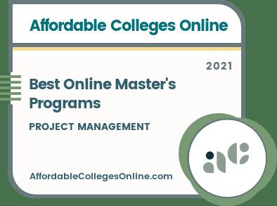 Best Online Master's Programs in Project Management Badge