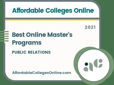 Best Online Master's Programs in Public Relations badge