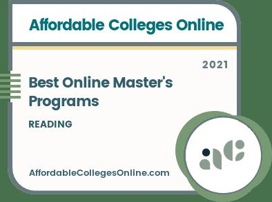 Best Online Master's Programs in Reading badge
