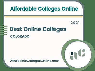 Best Online Colleges in Colorado badge