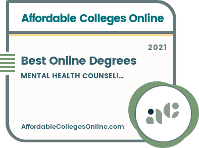 Best Online Mental Health Counseling Degrees badge
