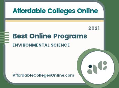 Best Online Bachelor's in Environmental Science Programs Badge