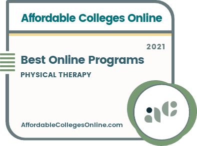 Best Online Physical Therapy Degrees and Programs badge