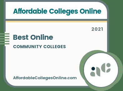 Best Online Community Colleges badge